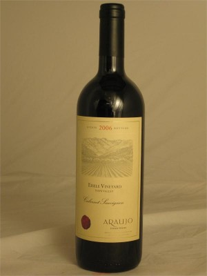 Araujo Cabernet Sauvignon Eisele Vineyard Napa Valley Estate 2006 Araujo Estate Wines Calistoga California  14.8% 750ml
