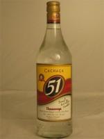 Cachaca 51 Brazilian Rum 40% ABV 1L