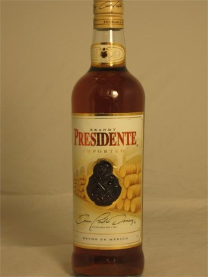 Casa Pedro Domecq Presidente Imported Brandy (Mexico) 40% ABV 750ml