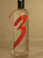 3* Vodka Made Smooth From Soy No Carbohydrates 40% ABV 750ml