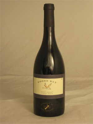 Goose Bay Pinot Noir East Coast  2013 13% ABV 750ml