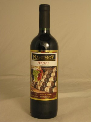 Nasimov Merlot 2007 13.2% ABV 750ml Kosher/Passover Chile