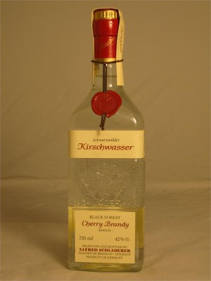 Schladerer Black Forest Kirschwasser Cherry Brandy Kirsch 42% ABV 750ml