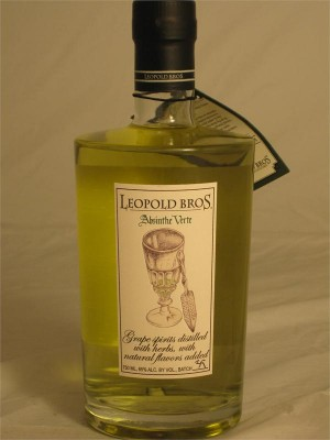 Leopold Bros. Absinthe Verte Grape Spirits Distilled with Herbs & Natural Flavors 65% ABV 750ml