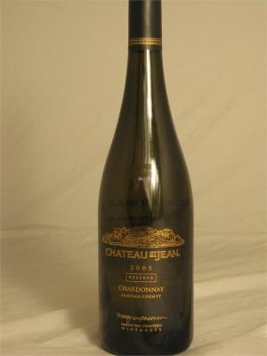 Chateau St. Jean Reserve Sonoma County Chardonnay 2005 14.4% ABV 750ml