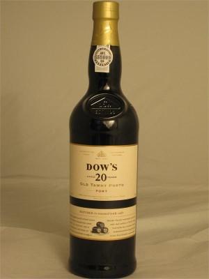 Dow's Tawny Porto  20yr  20% ABV 750ml