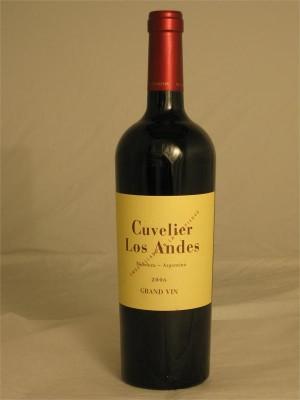Cuvelier Los Andes Grand Vin  Mendoza  2008  15% ABV 750ml