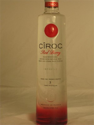 Ciroc Red Berry Vodka 35% ABV 750ml