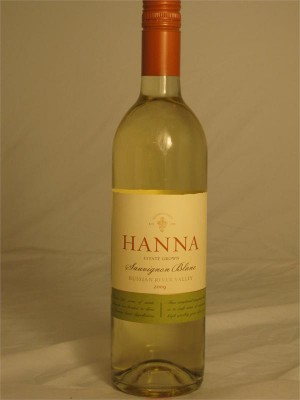 Hanna Estate Grown Russian River Valley Sauvignon Blanc 2013  13.2% ABV 750ml