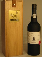 Sandeman 40 Year Tawny Porto 20% ABV 750ml in Attractive Wooden Box