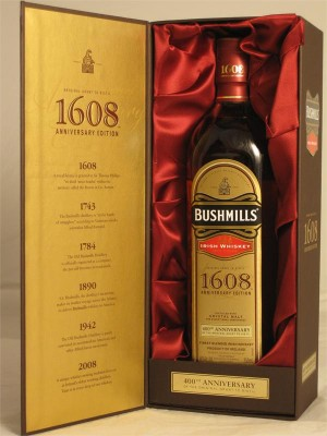 Bushmills  1608 Anniversary Edition 400th Irish Crystal Malt Whiskey 46% ABV  750ml