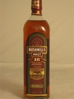 Bushmills  Malt Irish 16yr Single Irish Malt Whiskey  40% ABV  750ml