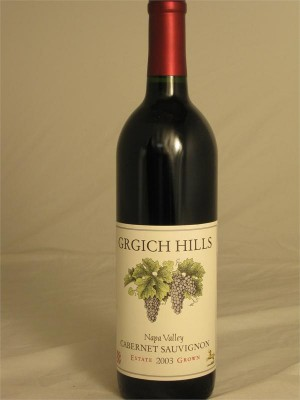 Grgich Hills Estate  Cabernet Sauvignon  Napa Valley 2013  14.5% ABV 750ml