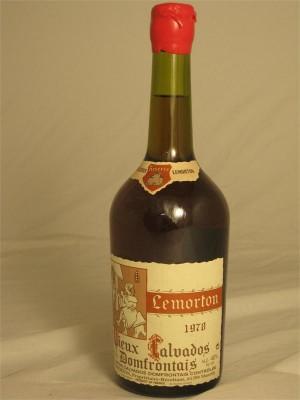 Lemorton Calvados Domfrontais 1978 40% ABV 750ml