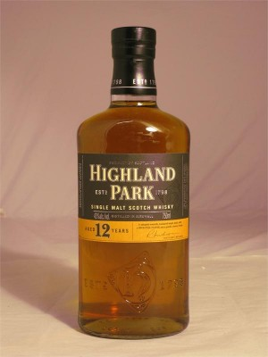 Highland Park 12 Year Single Malt  43% ABV  750ml