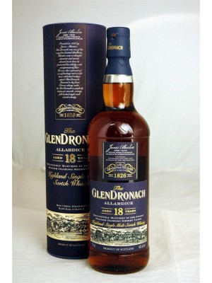 Glendronach Allardice 18yr Single Malt  46% ABV 750ml