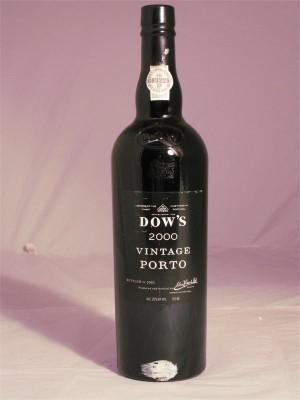 Dow's Vintage Porto 2000  20% ABV  750ml
