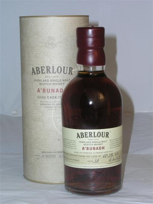 Aberlour  A'Bunadh Non Chill Filtered Single Speyside Malt  Cask Strength 60.3% ABV 750ml