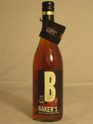 Baker's 7yr Kentucky Straight Bourbon Whiskey 53.5% ABV 750ml