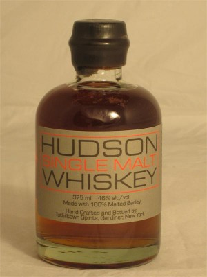 Hudson  Single Malt Whiskey Made with 100% Malted Barley 46% ABV 375ml
