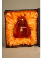 Jean Gauthier Brandy XO 40% ABV Glass Frog Figurine (Grenouille)