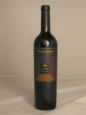 Veraison Stagecoach Vineyard Napa Valley Synchrony 2003 14.8% 750ml