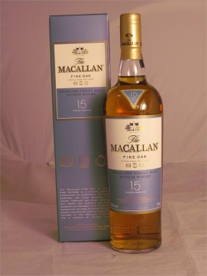 Macallan 15yr Highland Single Malt Fine Oak, Triple Cask Matured 43% ABV 750ml