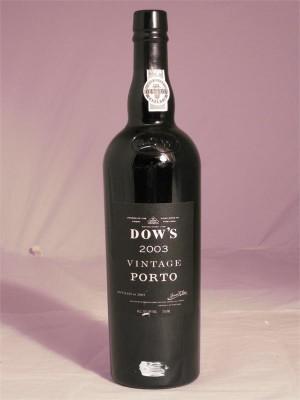 Dow's Vintage Porto 2003 20% ABV  750ml