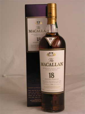 Macallan 18yr Highland Single Malt  43% ABV 750ml