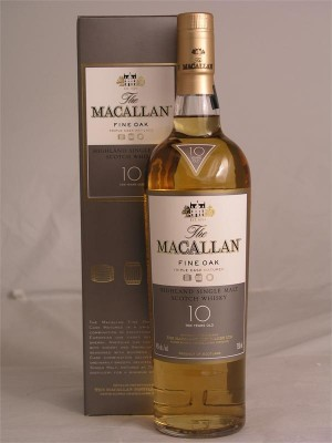 Macallan 10yr Highland Single Malt  Fine Oak 40% ABV 750ml