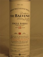 Balvenie 15 Year Single Barrel Single Malt Scotch Whisky 47.8% ABV  750ml