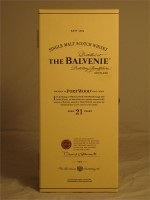 Balvenie 21 Year Portwood Single Malt Scotch Whisky 750ml 86 Proof