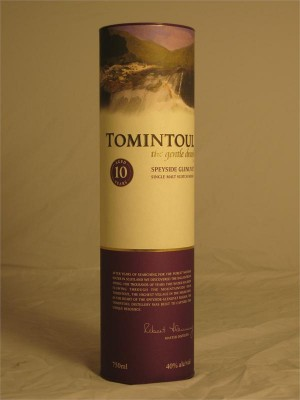 Tomintoul  10 Year Speyside Glenlivet Single Malt Scotch Whisky  750ml
