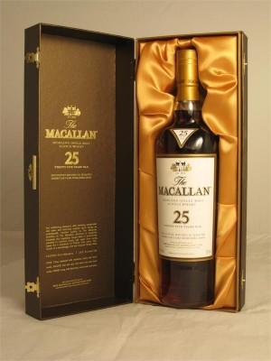 Macallan  25yr Highland Single Malt  750 ml
