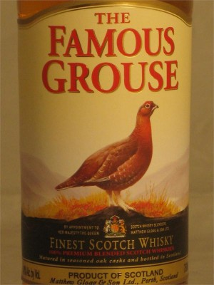 The Famous Grouse Blended 100% Scotch Whiskies 40% ABV 750ml