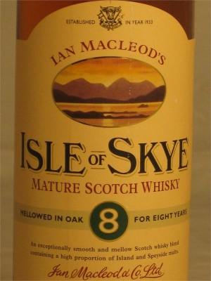 Ian Macleod's Isle of Skye 8 Year 40% ABV 750ml