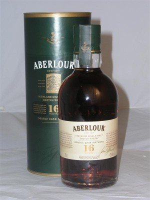 Aberlour 16yr Highland Single Malt  Double Cask Matured Sherry Cask 43% ABV 750ml