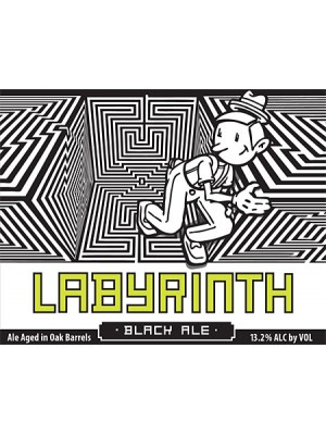 Uinta Crooked  Line Labyrinth Barrel Aged Black Ale 750ml