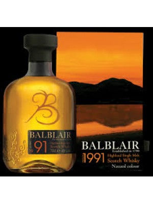 Balblair 1991 Highland Single Malt 43% ABV 750ml