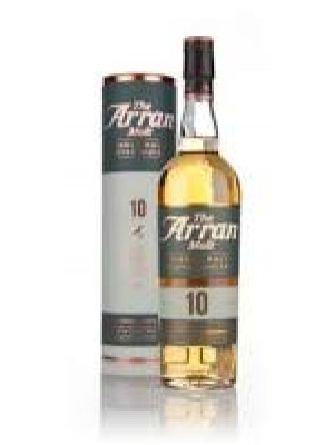 The Arran Single Malt  10 year non chill filtered 46% ABV 750ml