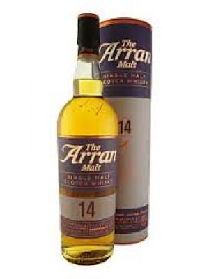 The Arran Single Malt 14 year non chill filtered 46% ABV  750ml