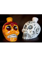 Calavera Tquila Blanco hand painted Skull 750 ml
