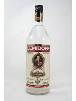 Demidoff Russian Vodka Triple Filtered 40% ABV  1 Liter