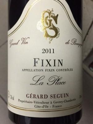 Gerard Seguin Fixin La Place 2011 13% ABV 750ml