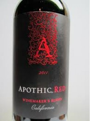 Apothic Red Winemaker's Blend California 2017  13% ABV 750ml